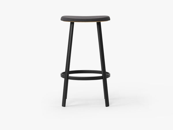 Anno Stool H75, Black/Ant Grey Textile fra MILLION