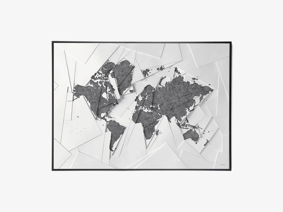 Maps Our World - White fra ChiCura