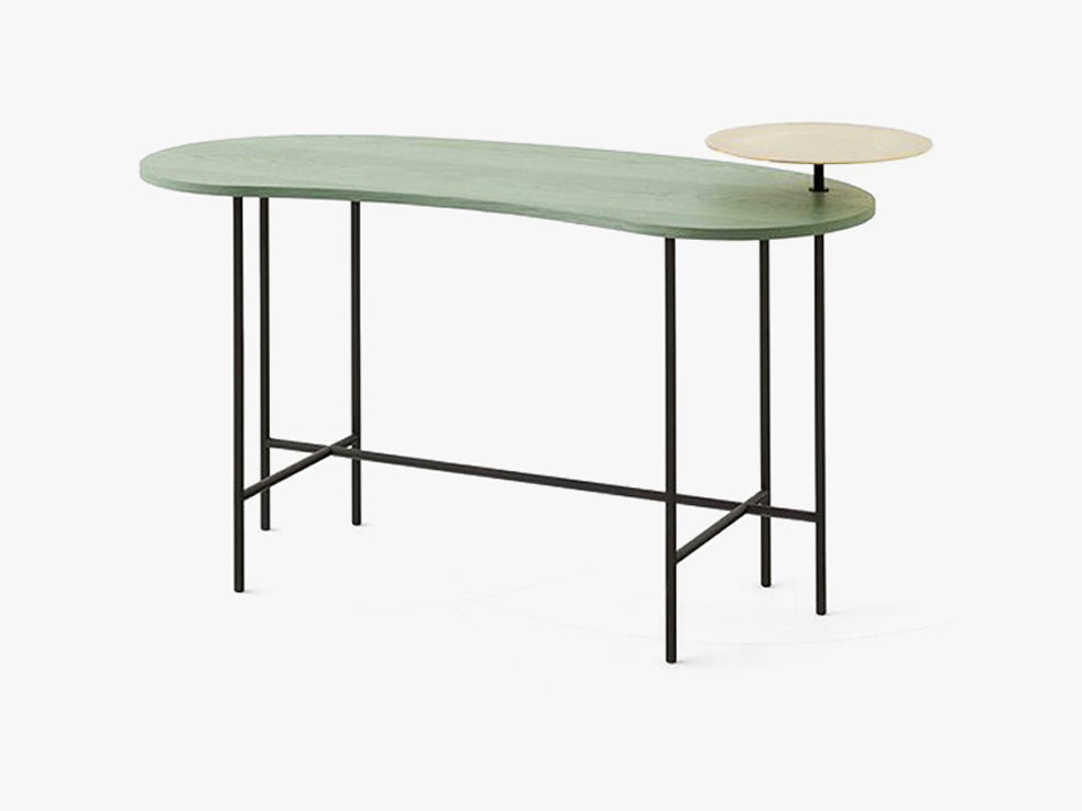 Palette Desk - JH9 - Grey green ash & brass fra &tradition