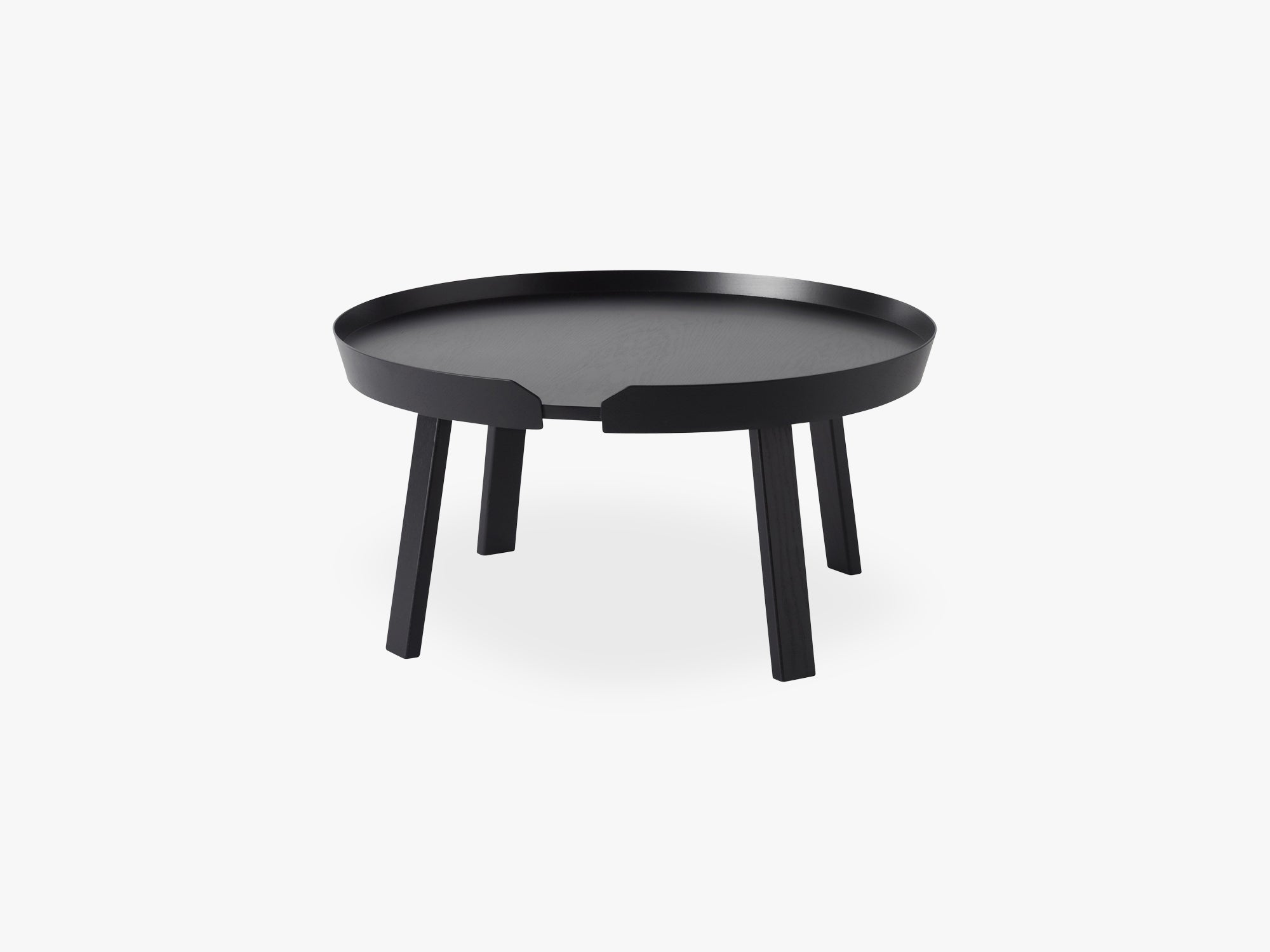 Around Coffee Table - Large, Black fra Muuto