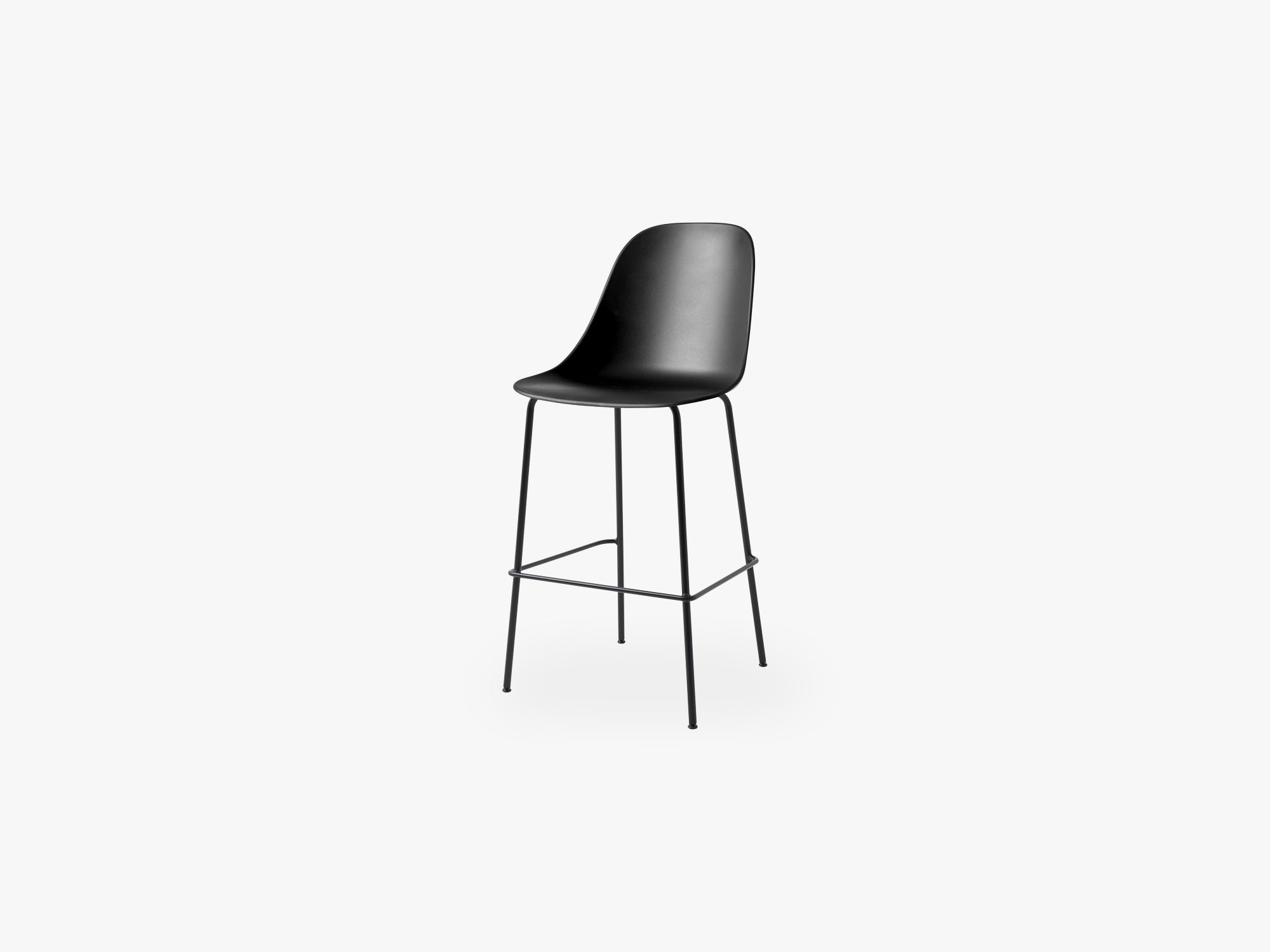 Harbour Side Chair - Bar, Black Steel Base/Black Shell fra Menu