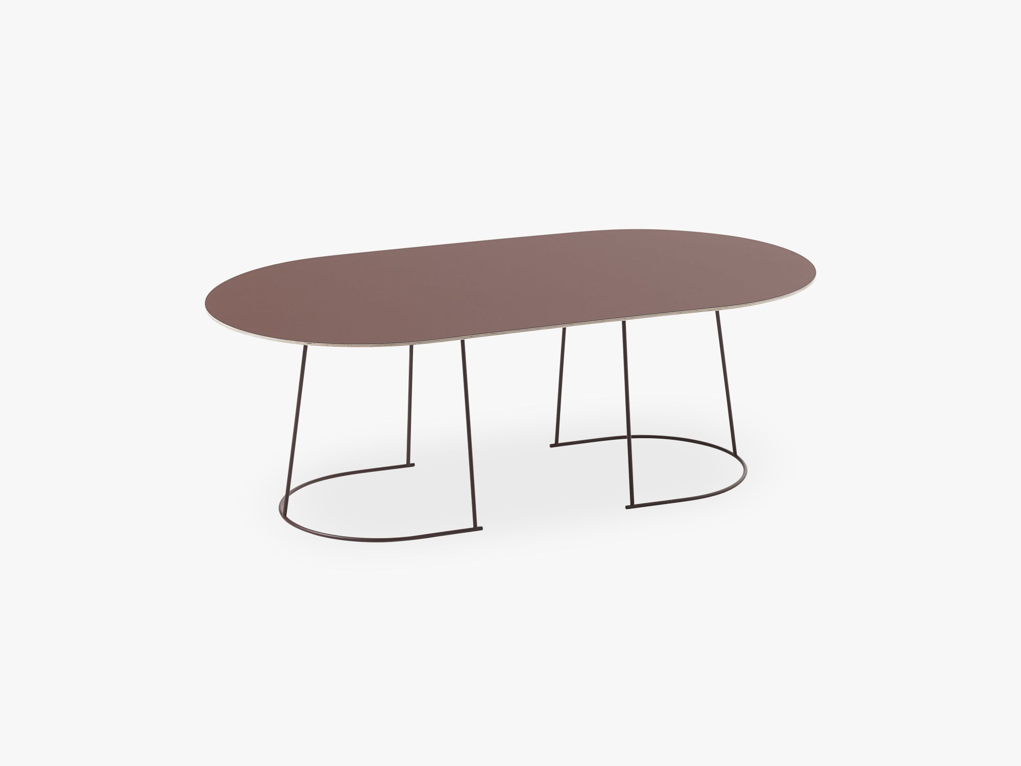 Airy Coffee Table - Large, Plum - Nanolaminate fra Muuto