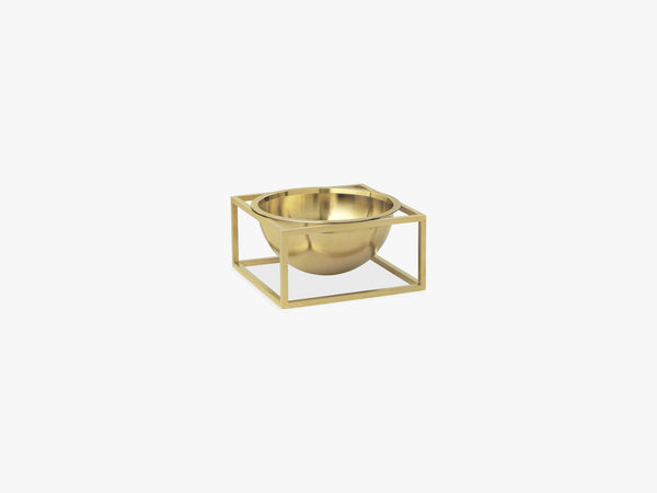 Kubus Bowl centerpiece small, brass fra By Lassen