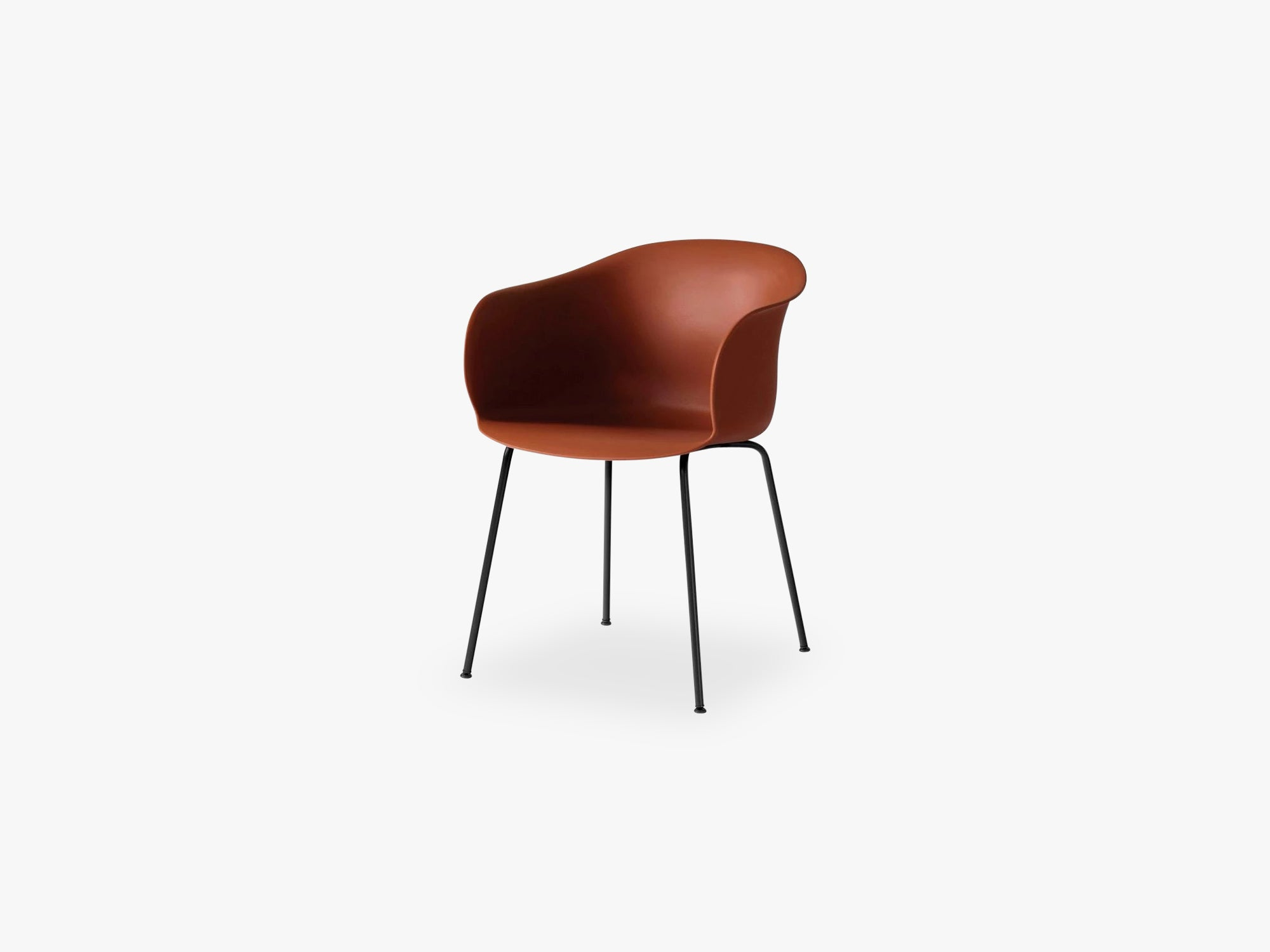 Elefy Chair JH28 Copper Brown, Black tube base fra &tradition