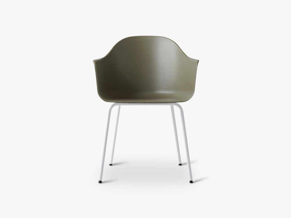 Harbour Chair, Olive/Light Grey Steel Base fra Menu