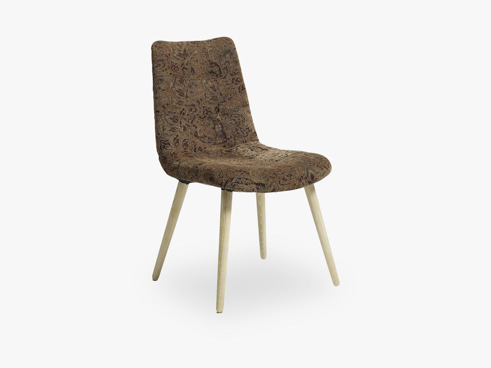 Dinner chair, flower pattern,light brown fra Nordal
