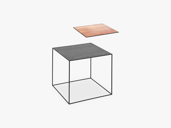 Twin 42 table, black, black/copper fra By Lassen