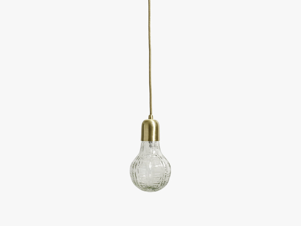 Crystal bulb lamp w/brass, checks fra Nordal