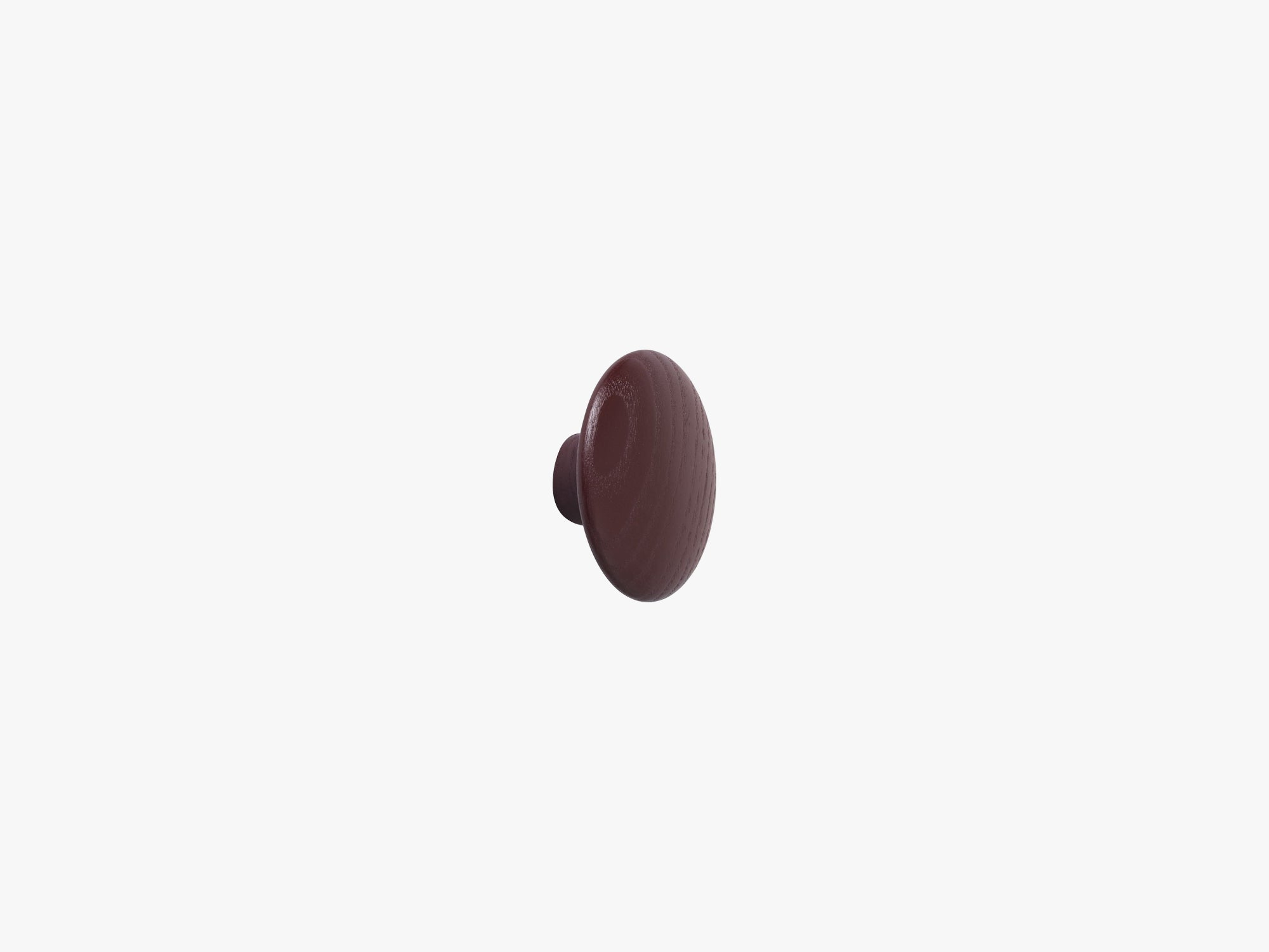 The Dots Coat Hooks / X-Small, Burgundy fra Muuto