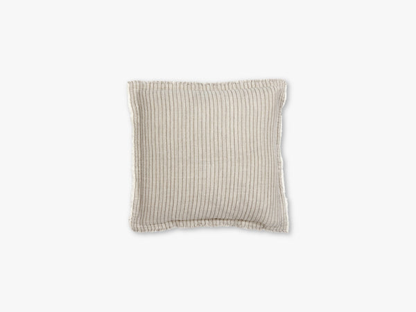Cushion cover, stripes, beige/off white fra Nordal