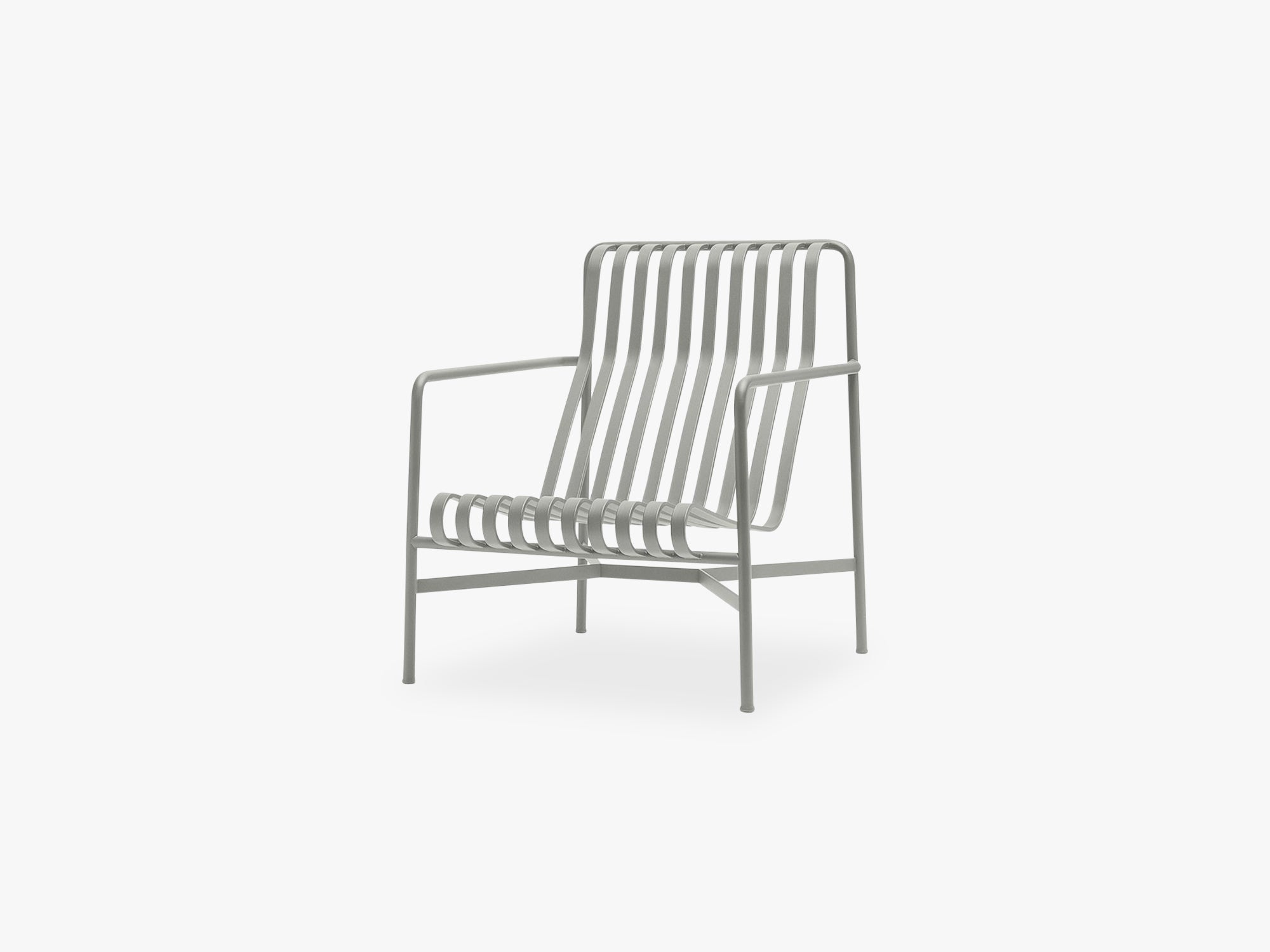 Palissade Lounge Chair - High, Sky Grey fra HAY