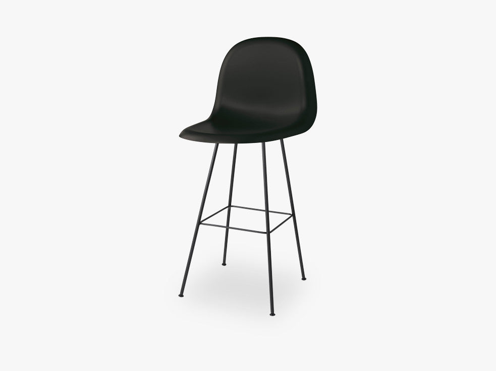 3D Counter Chair - Un-upholstered - 65 cm Center Black base, Midnight Black shell fra GUBI
