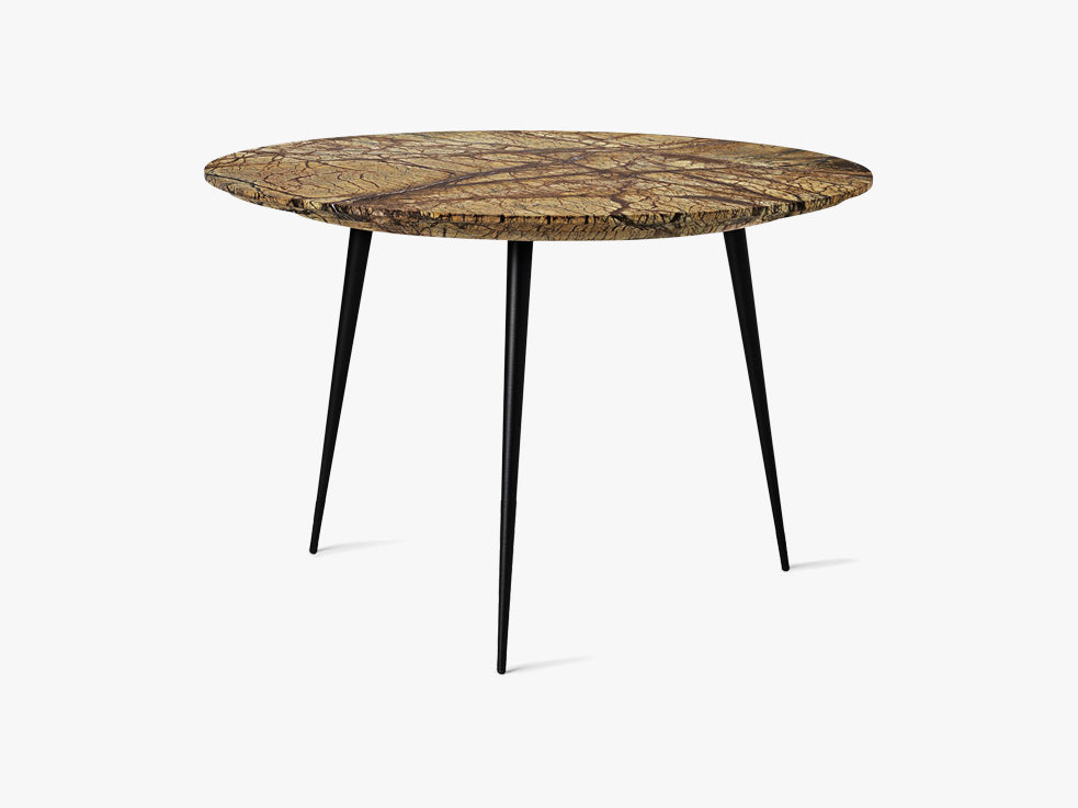 Disc Side Table Ø: 50, Marble - Jungle Brown fra Mater