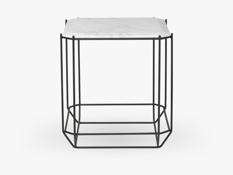 Jewel Side Table, hvid marmor fra Louise Roe