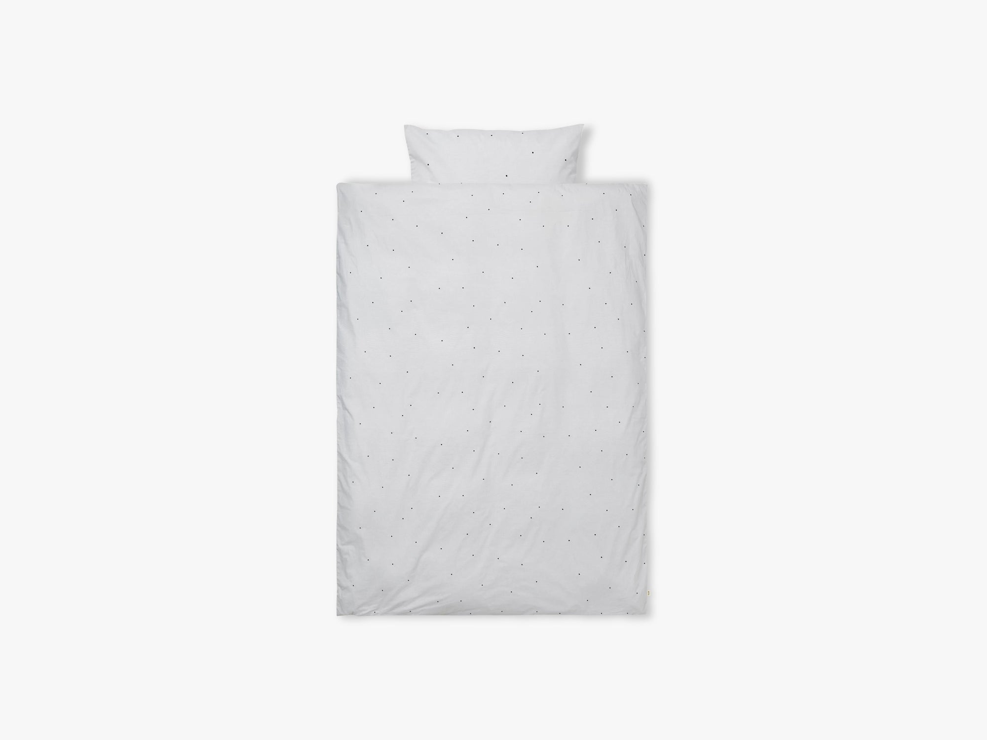 Dot Embr Bedding, Adult, Light Grey fra Ferm Living