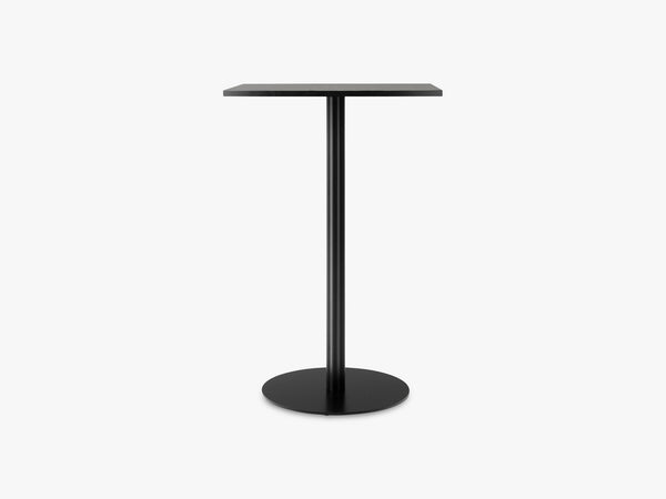 Harbour Column Bar Table 60x70 - Charcoal Linoleum with Black Base fra Menu