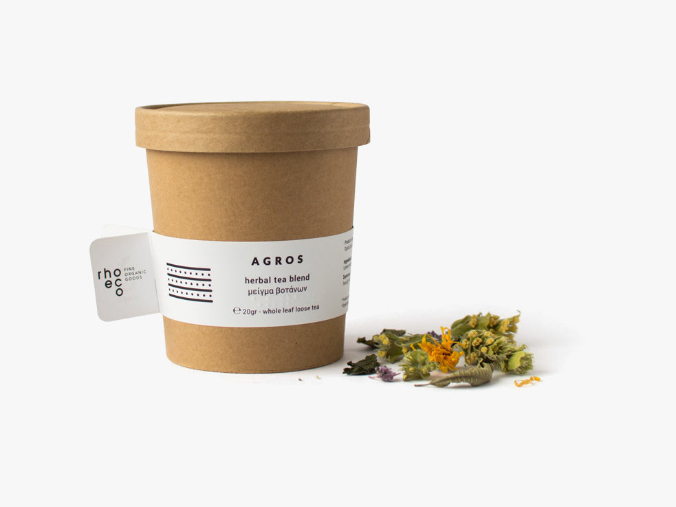 AGROS herbal tea blend fra rhoeco
