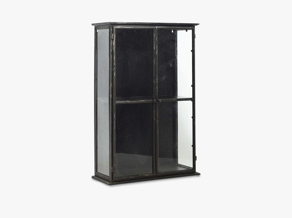DOWNTOWN iron wall cabinet, black fra Nordal
