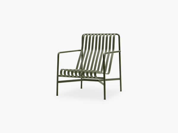 Palissade Lounge Chair - High, Olive fra HAY
