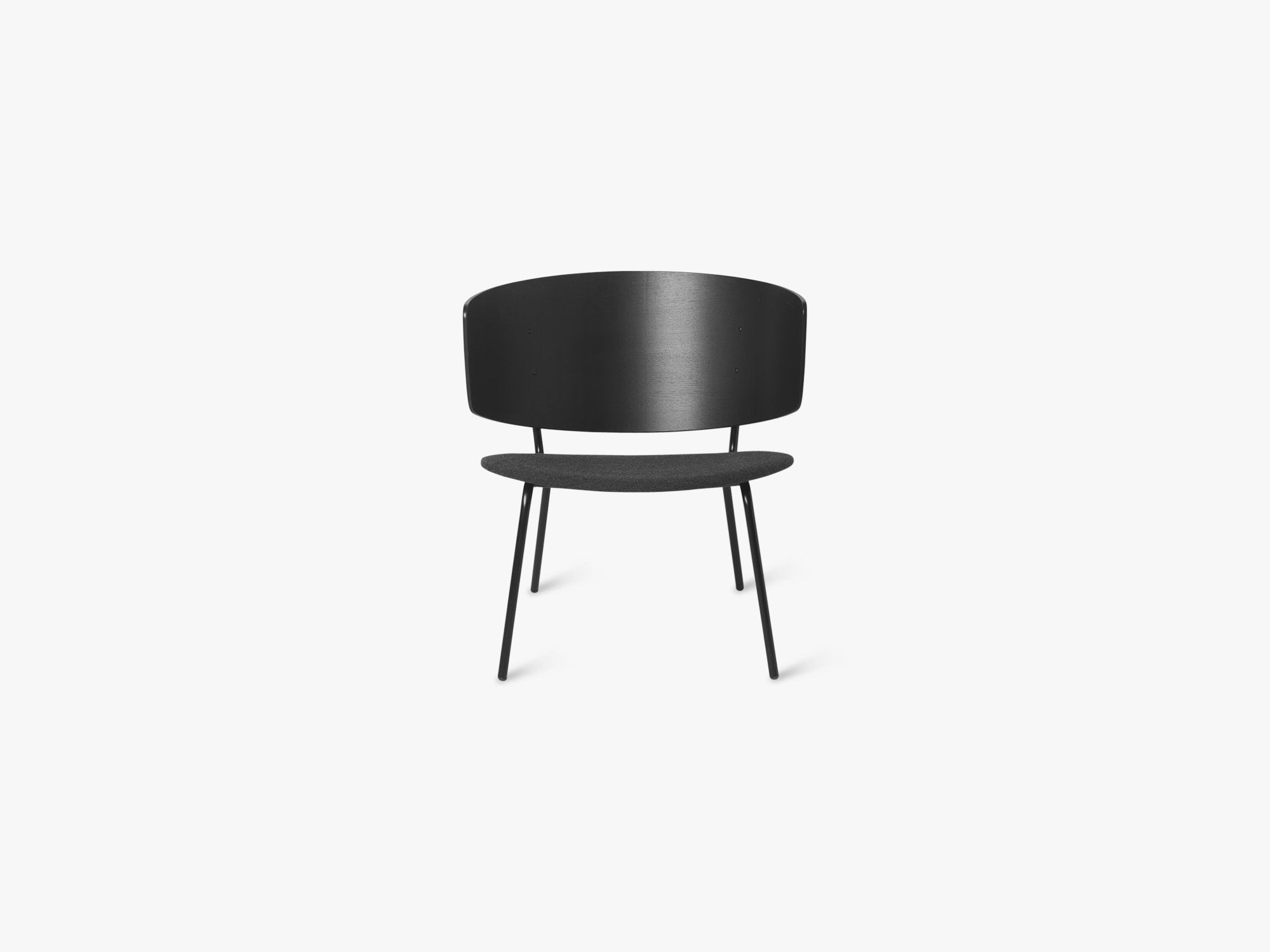 Herman Lounge Chair, Black/Dark Grey fra Ferm Living