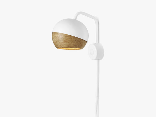 Ray Wall Lamp, White2m wire fra Mater