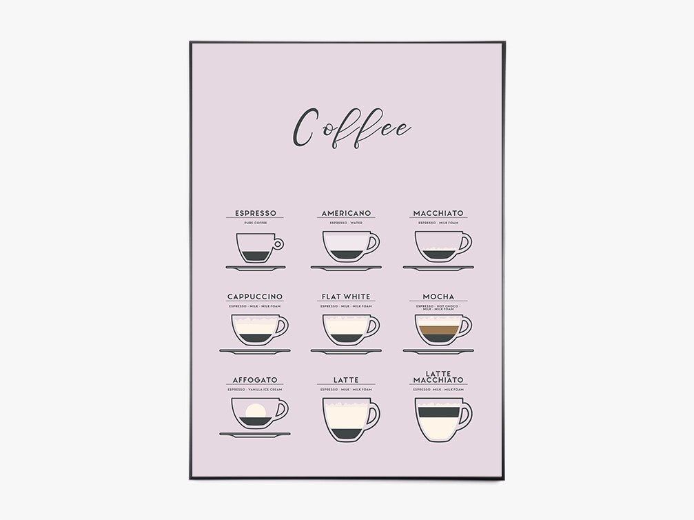Coffee, Lavendel - Plakat fra Paper Stories