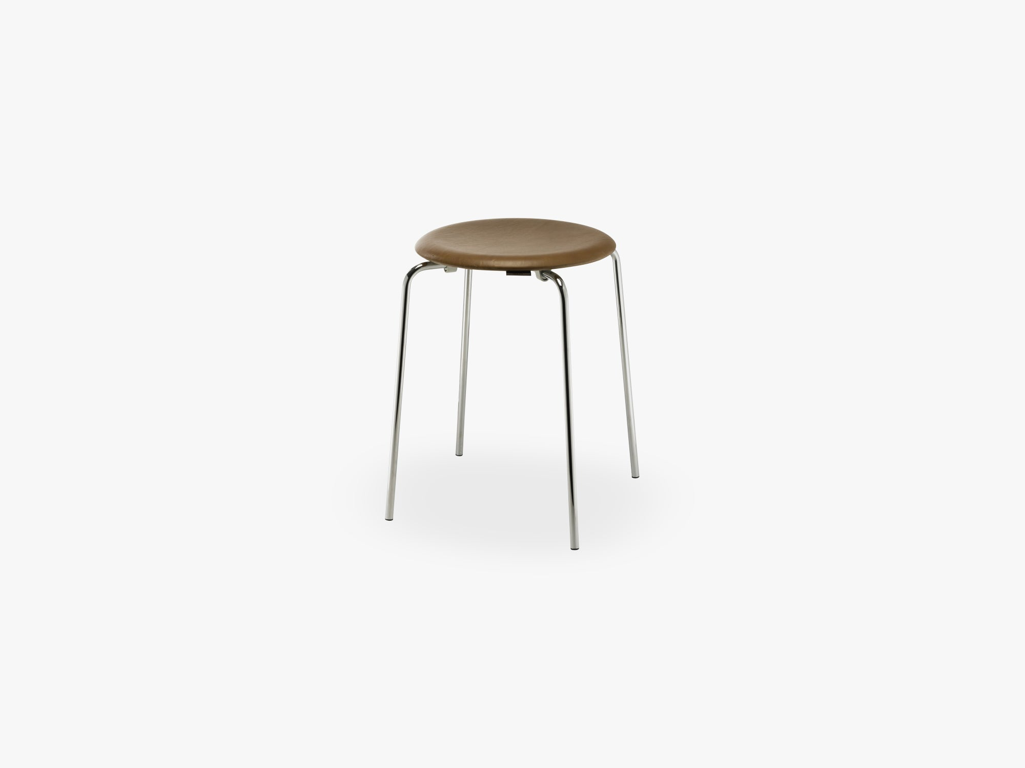 DOT, Walnut elegance leather / chrome base fra Fritz Hansen