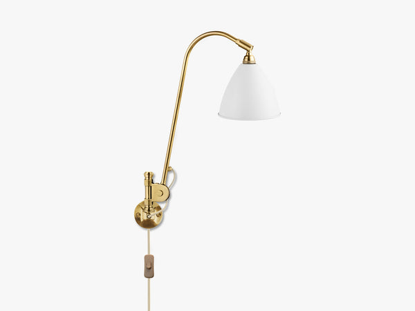 Bestlite BL6 Wall Lamp - Ø16 - All Brass, Matt White fra GUBI