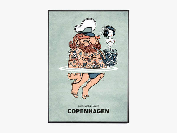 Summer Sailor fra Copenhagen Poster