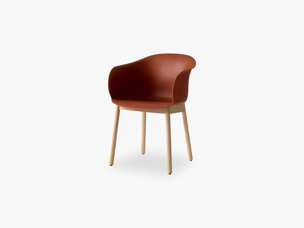 Elefy Chair JH30 Copper Brown, Oak base fra &tradition