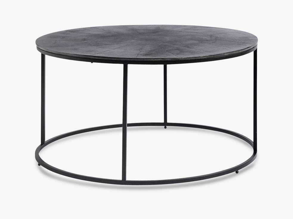Coffee table, round, black oxidized fra Nordal