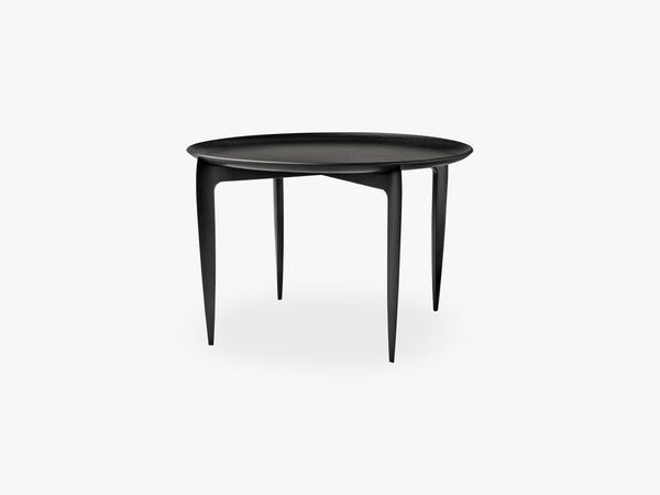 Foldable Tray Table, Black - Ø60 fra Fritz Hansen