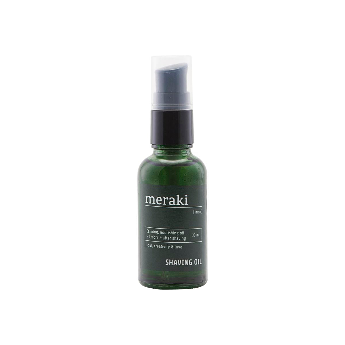 Shaving oil, Men fra Meraki