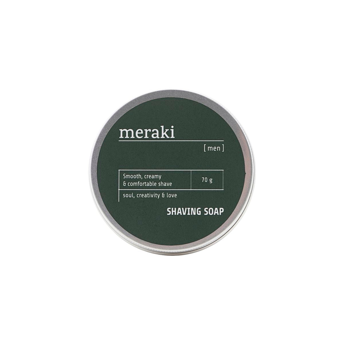 Shaving soap, Men fra Meraki