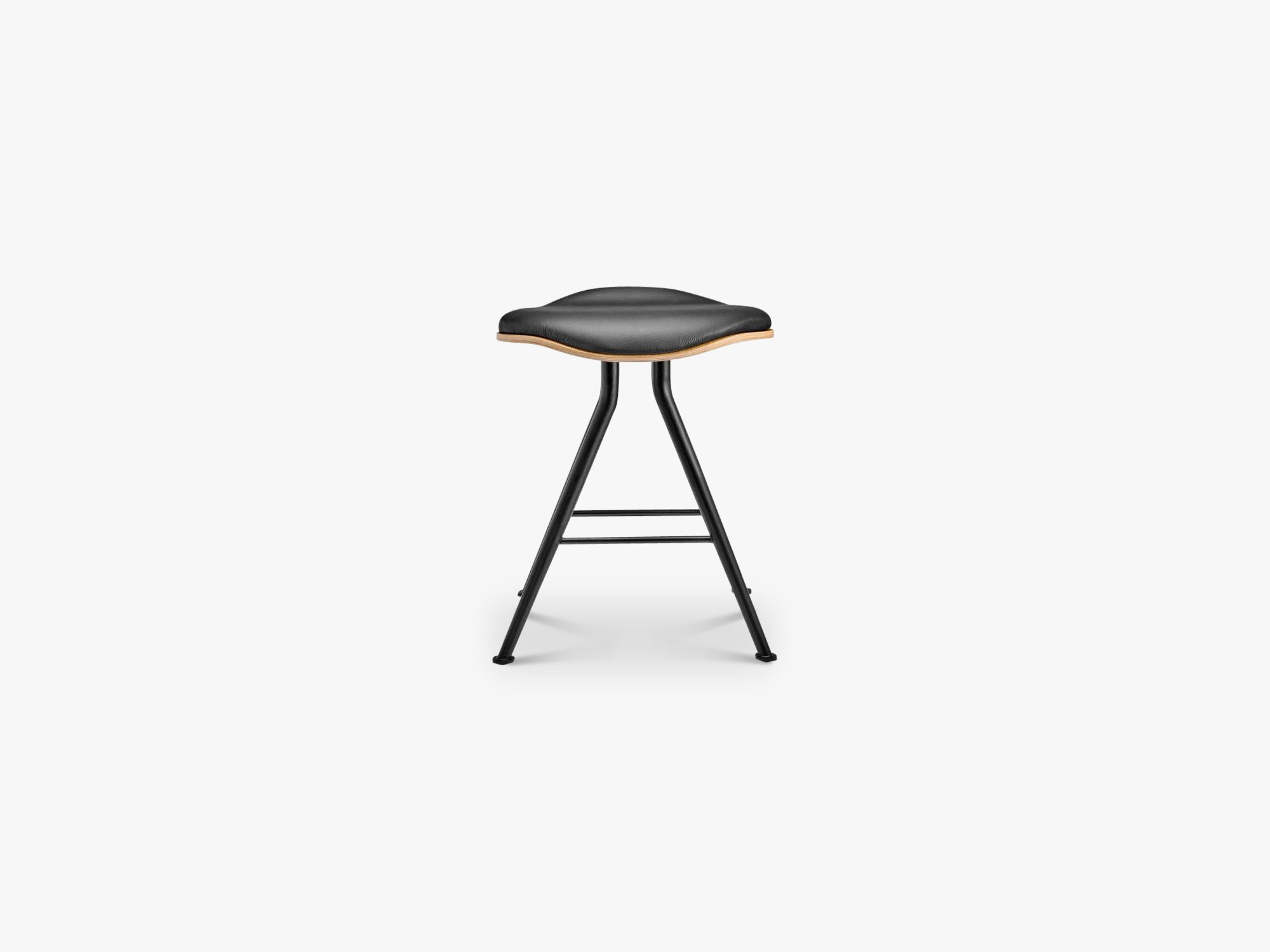 Barfly Stool, Black/Black Leather fra NORR11