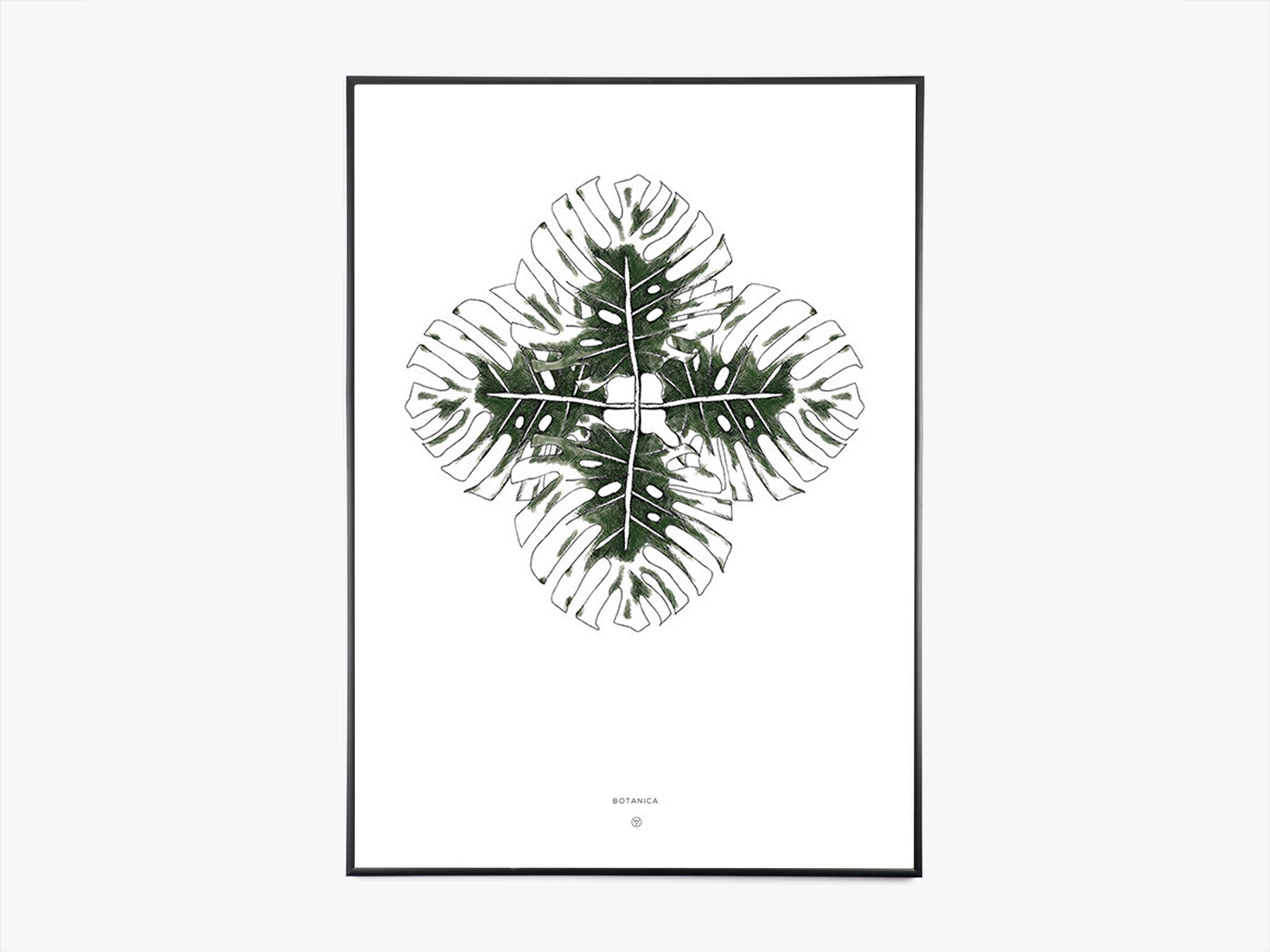 Monstera A3 (Mørk Grøn) fra Wood+Ink