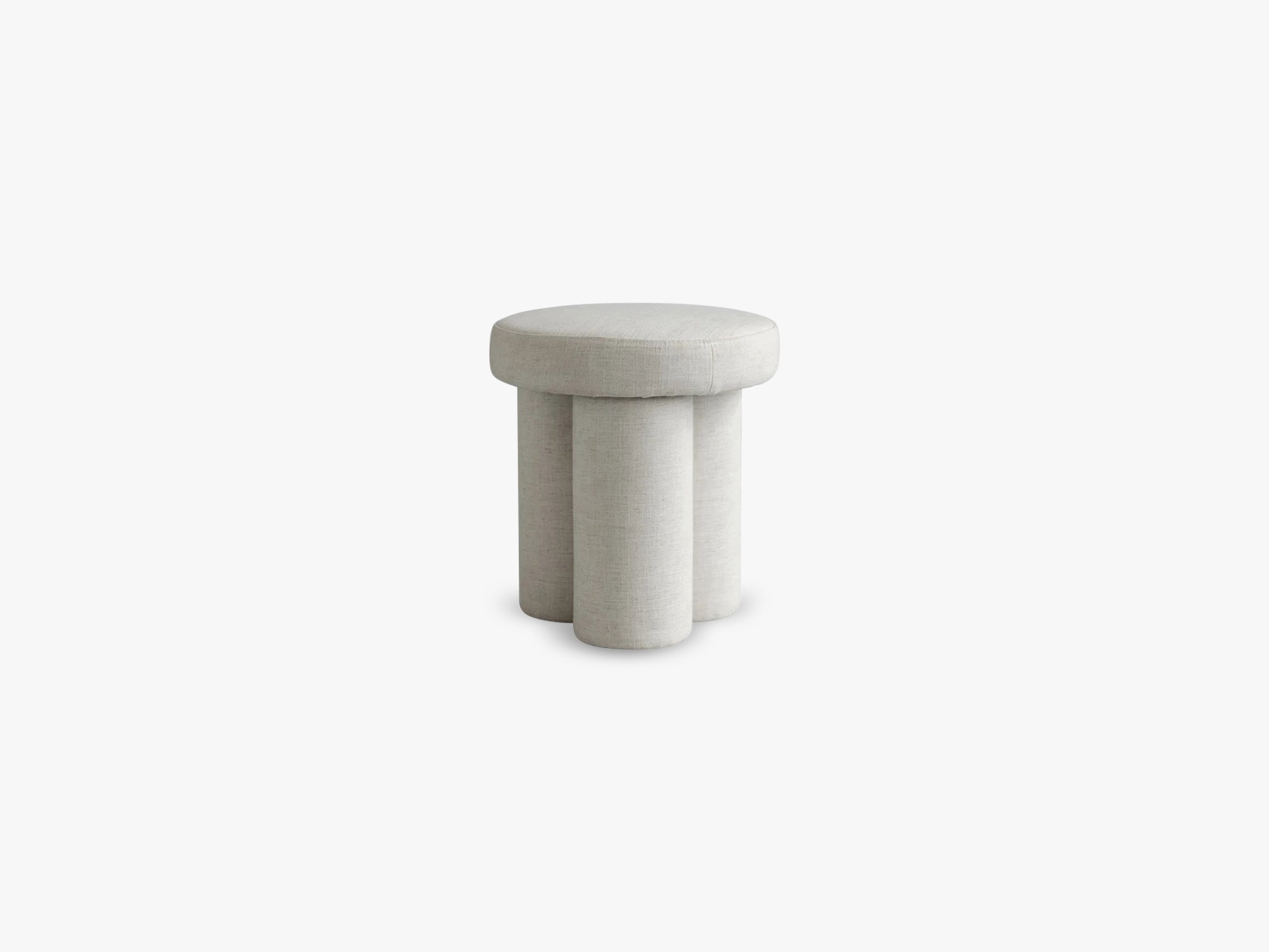 Big Foot Stool, Linen, White Chalk fra 101 Copenhagen