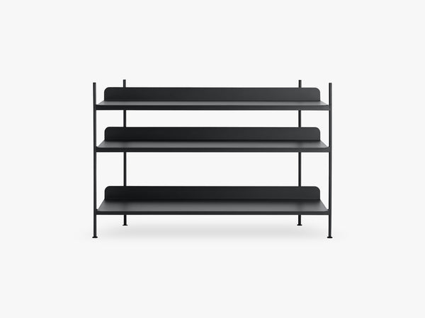 Compile Shelving System / Configuration 2, Black fra Muuto