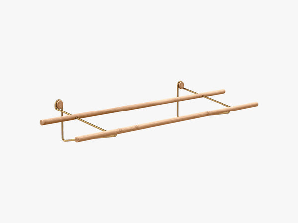 Shoe Rack, Brass Mounting Bracket fra We Do Wood