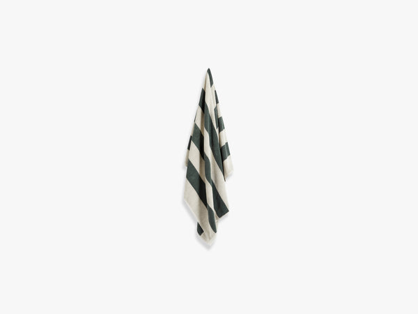 Frotté Stripe - Bath, Dark Green fra HAY