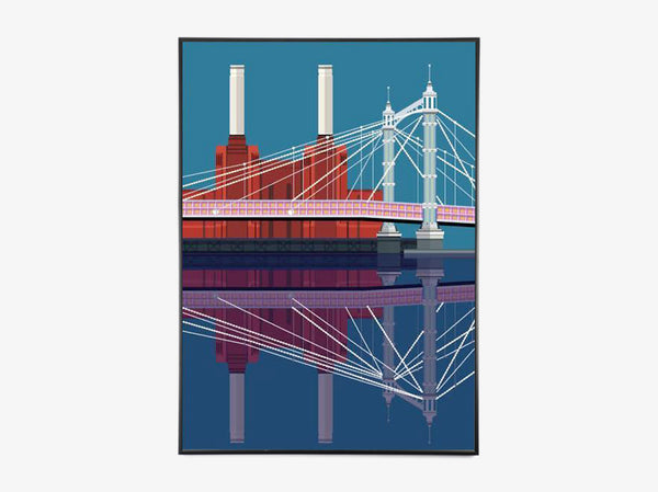 Albert Bridge & Battersea Power Station fra Sivellink
