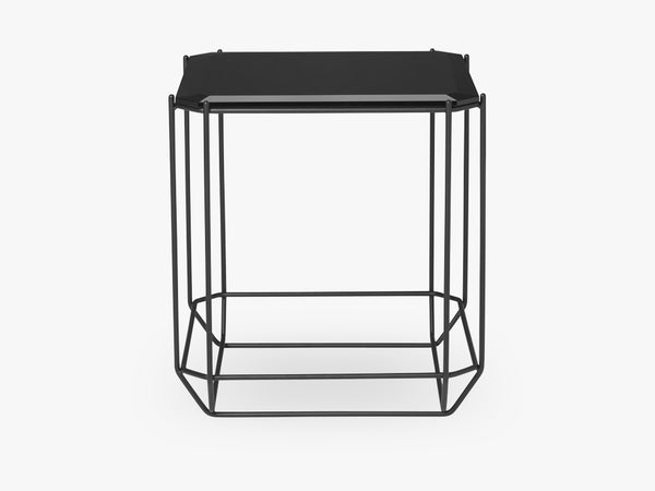 Jewel Side Table, sort glas fra Louise Roe