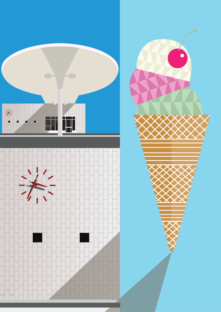 Jacobsen and Ice Cream Print A3 fra Sivellink