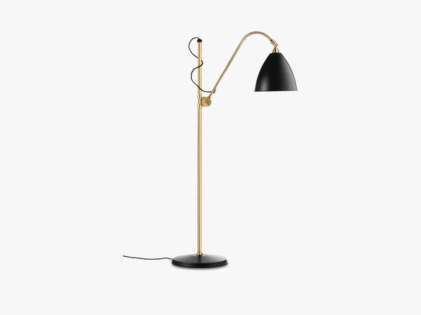 Bestlite BL3 Floor Lamp - Ø21 - Brass Base, Charcoal Black fra GUBI