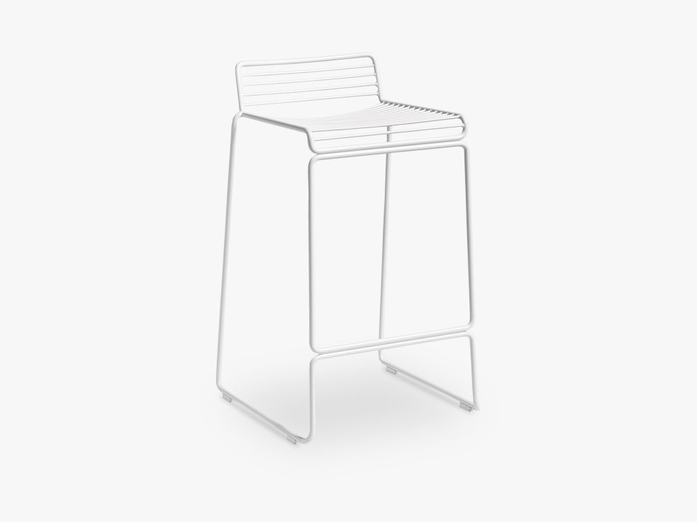 HEE Bar Stool Low, White fra HAY