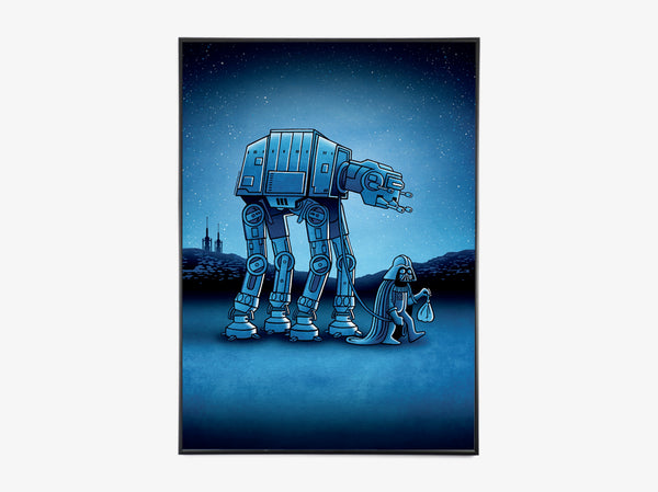 Star Wars - Walking the Walker fra Copenhagen Poster