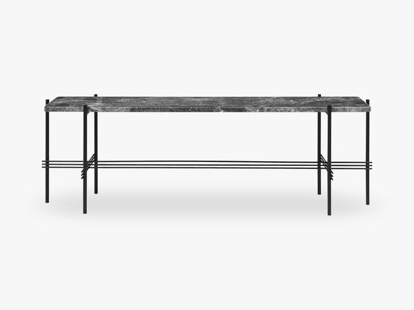 TS Console - 1 rack Black base, Marble grey top fra GUBI