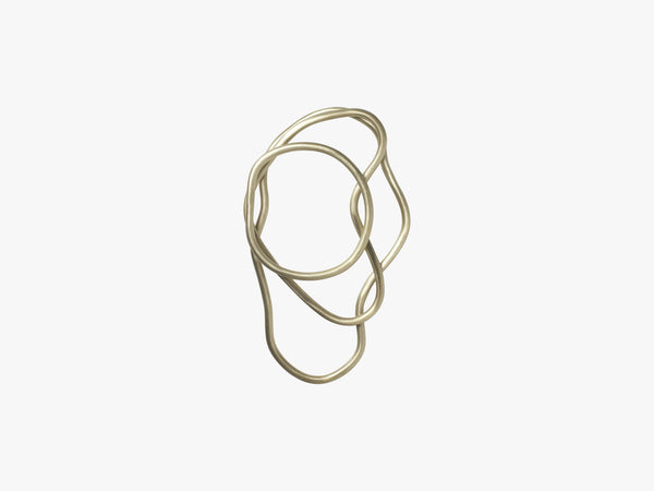 Pond Trivets - Set of 3, Brass fra Ferm Living