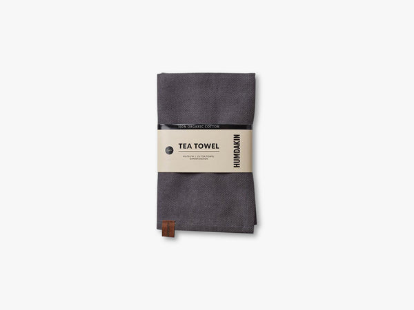 Organic Tea Towels, Dark ash fra HUMDAKIN