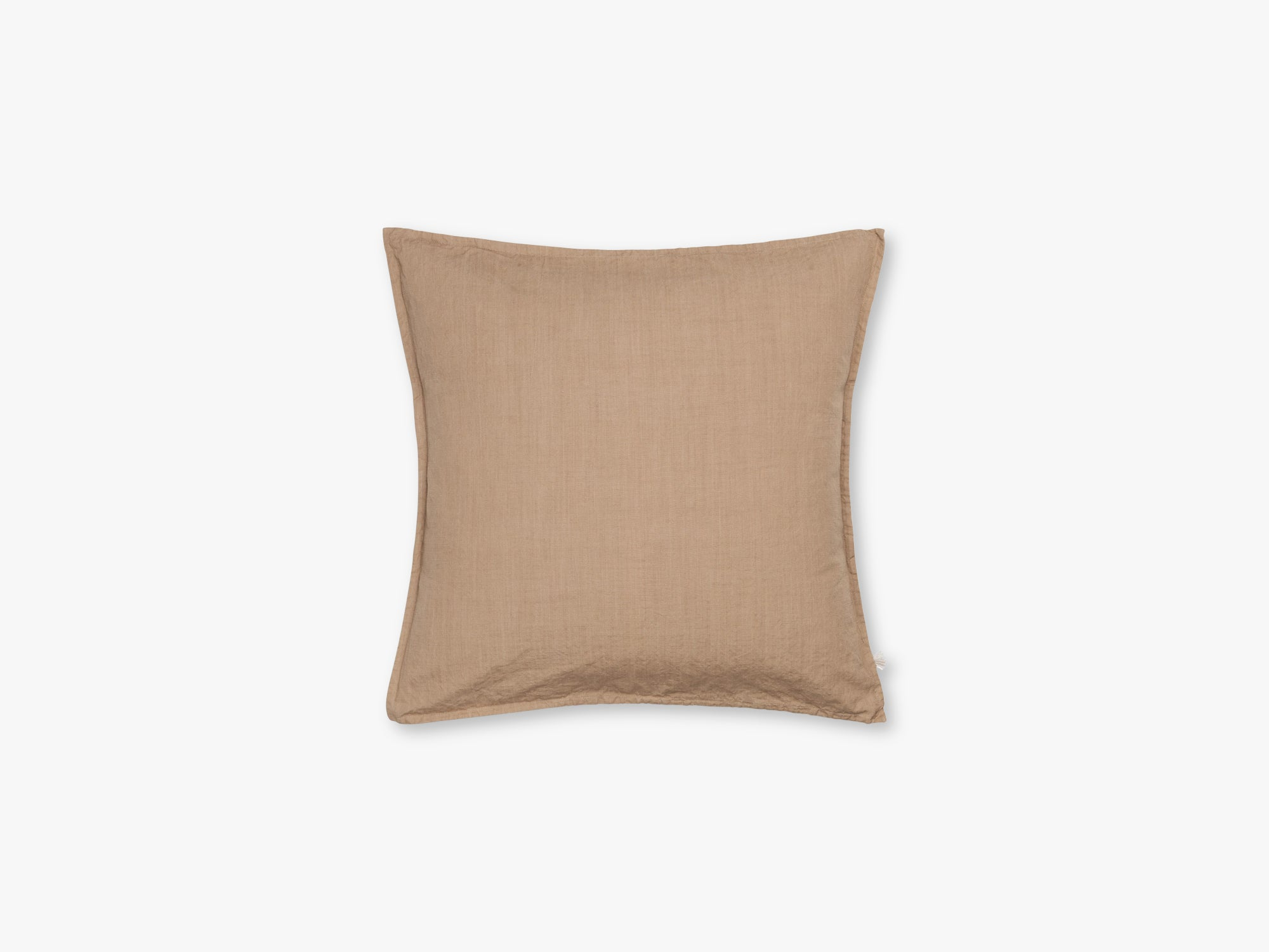 Pillow Cotton Slub 50x50, Light Tabacco fra Aiayu